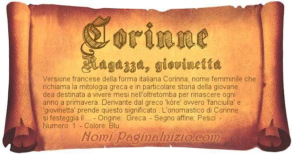 Nome Corinne