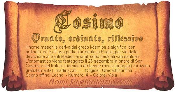 Nome Cosimo