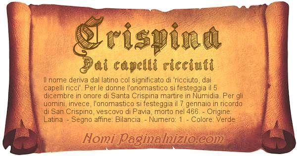 Nome Crispina