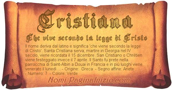 Nome Cristiana