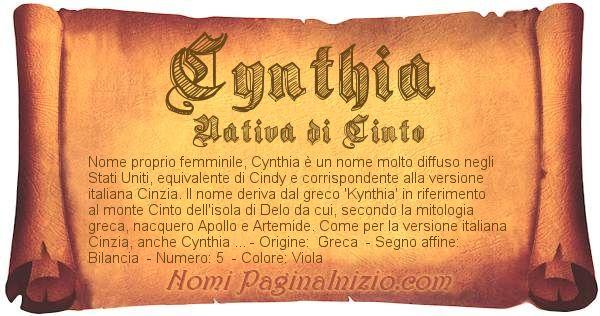 Nome Cynthia