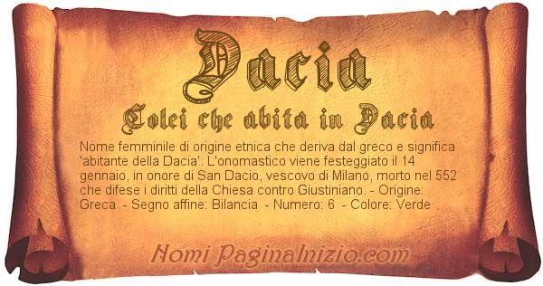 Nome Dacia