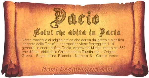 Nome Dacio