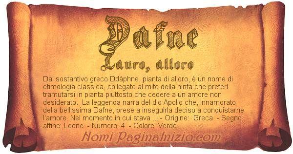 Nome Dafne