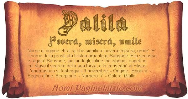 Nome Dalila