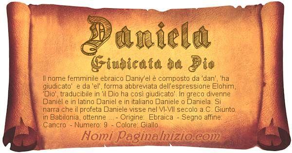 Nome Daniela