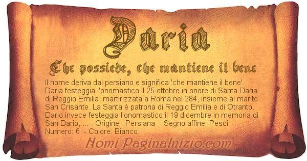 Nome Daria