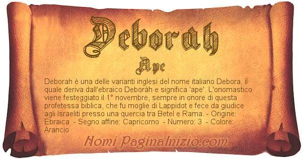 Nome Deborah