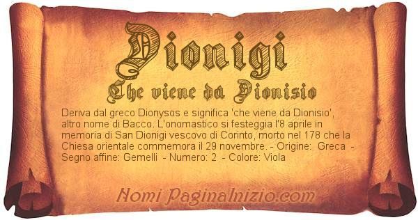 Pergamena col nome https://www.paginainizio.com/nomi/imgnomi/dionigi.jpg