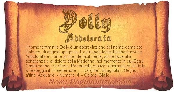 Nome Dolly