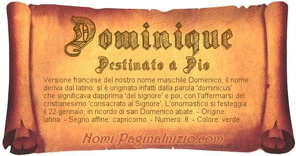 Nome Dominique