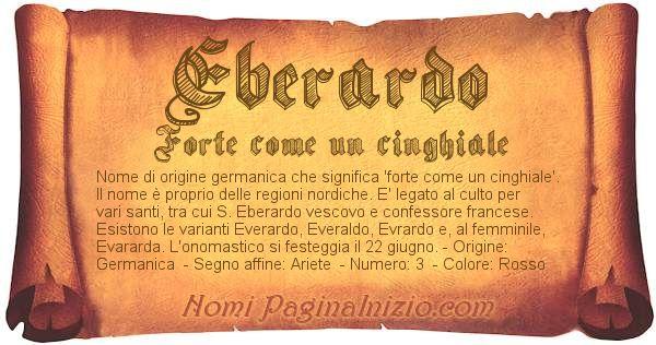 Nome Eberardo