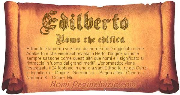 Nome Edilberto