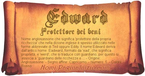 Nome Edward