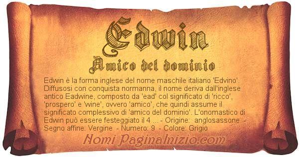 Nome Edwin