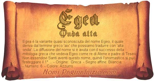 Nome Egea