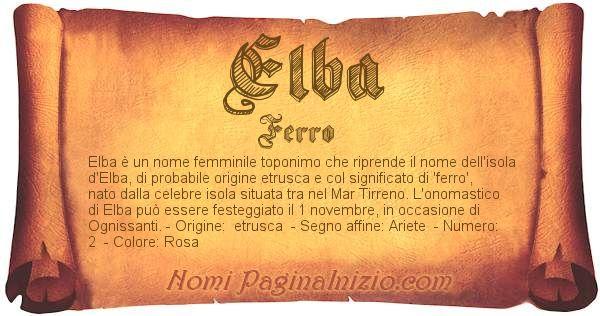 Nome Elba