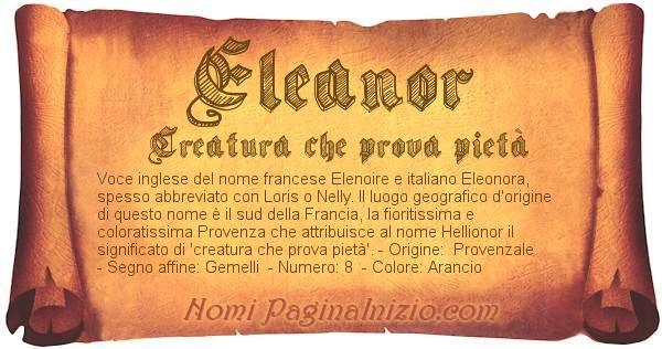Nome Eleanor