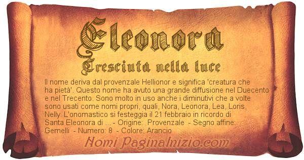 Nome Eleonora
