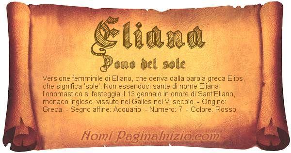 Nome Eliana