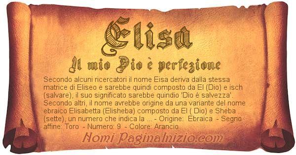 Nome Elisa