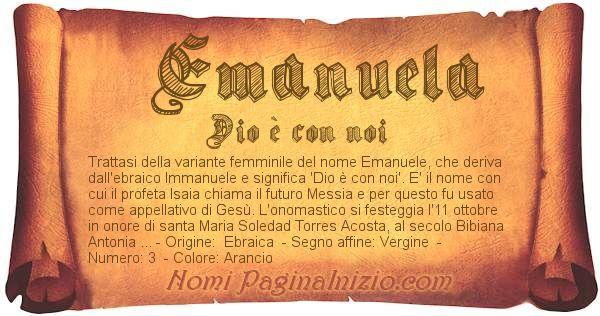 Nome Emanuela