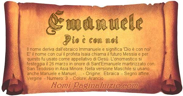 Nome Emanuele