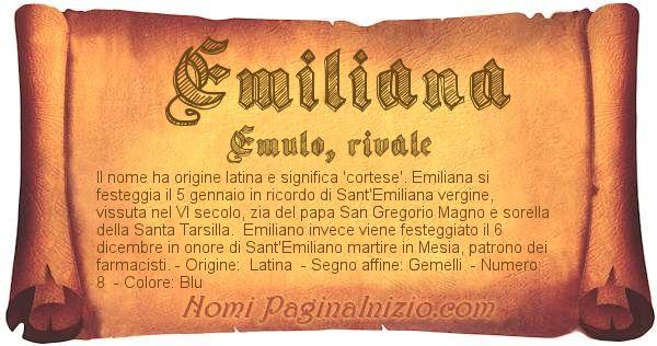Nome Emiliana