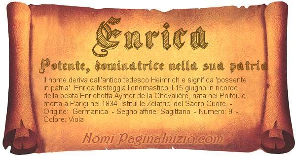 Nome Enrica