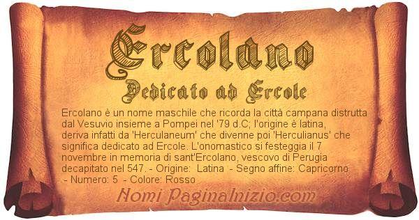 Nome Ercolano