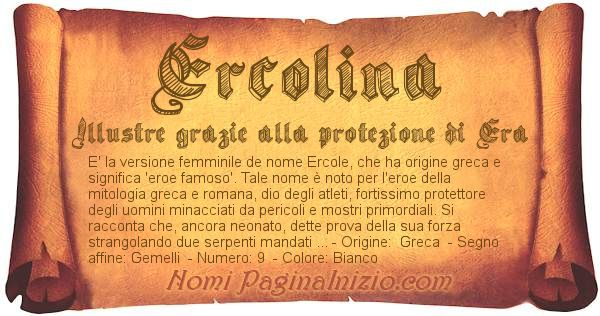 Nome Ercolina