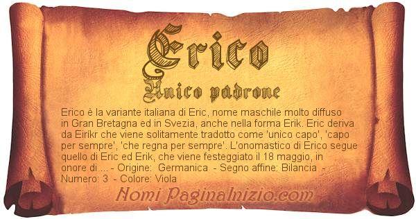 Nome Erico