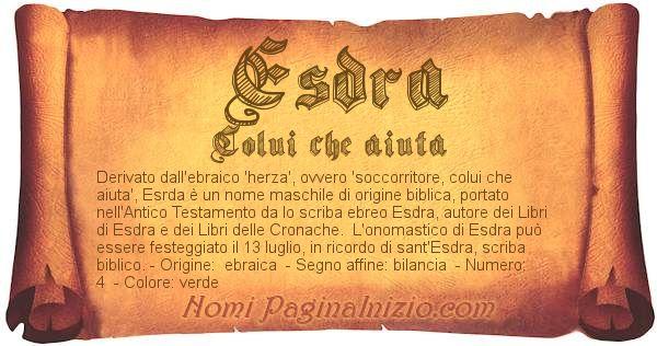Nome Esdra