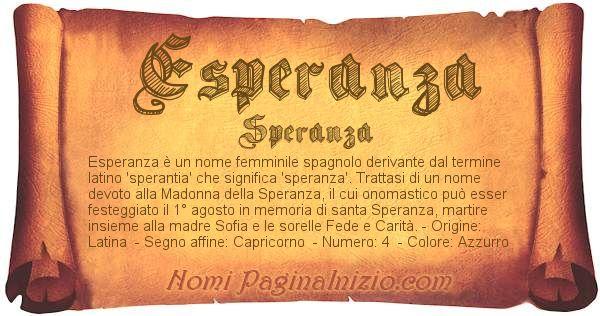 Nome Esperanza