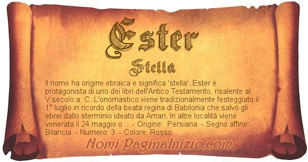 Nome Ester