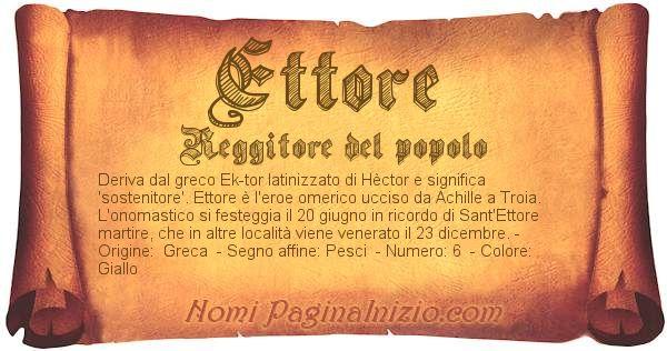 Nome Ettore