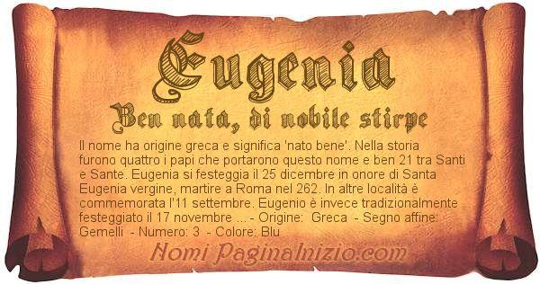 Nome Eugenia
