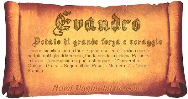 Nome Evandro