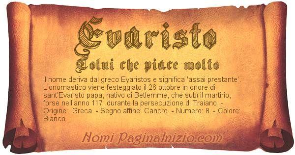 Nome Evaristo