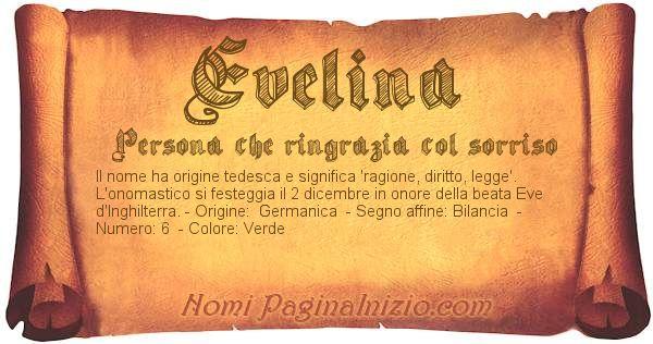 Nome Evelina