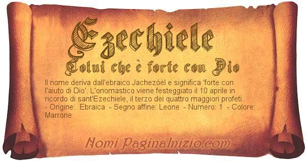Nome Ezechiele