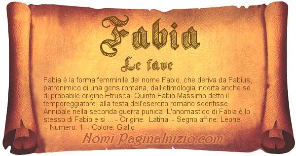Nome Fabia