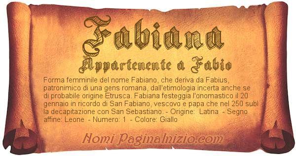 Nome Fabiana