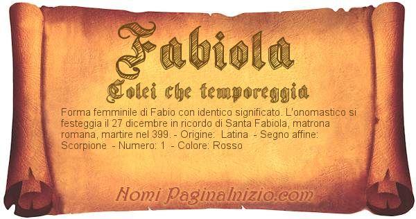 Nome Fabiola