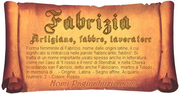 Nome Fabrizia