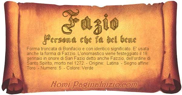 Nome Fazio