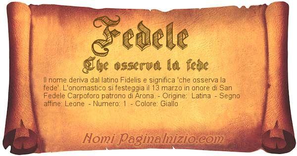 Nome Fedele