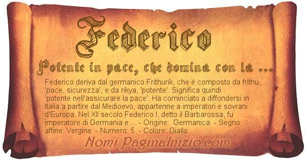 Nome Federico
