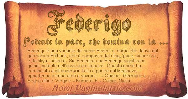 Nome Federigo