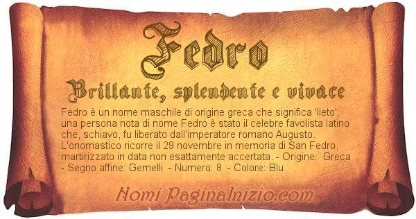 Nome Fedro